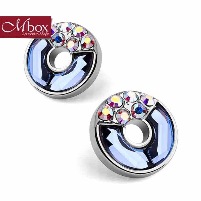 【Mbox 耳環 甜甜圈】施華洛世奇 元素水晶/奧鑽
