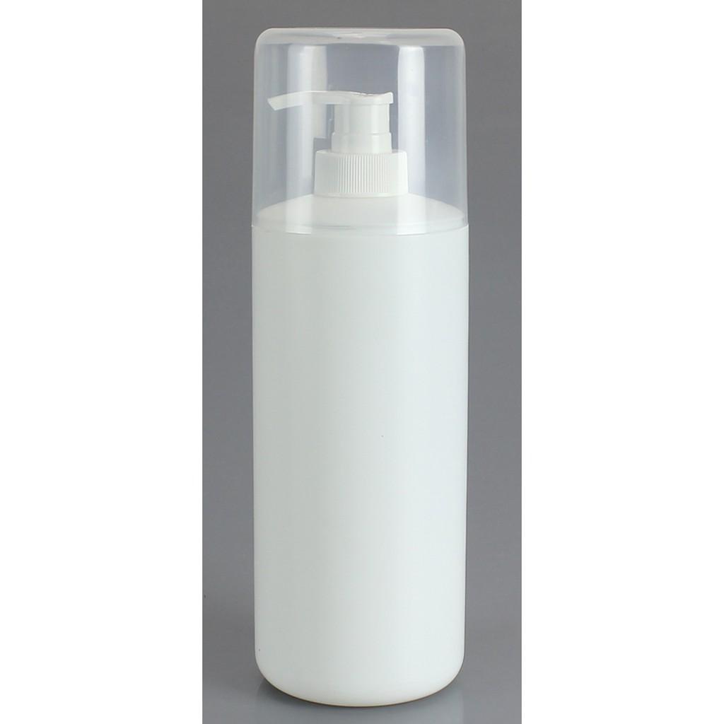 [台灣現貨當天出貨]附上蓋乳液壓瓶600ml/精華液瓶/分裝瓶/身體乳瓶/化妝水瓶/美容材料