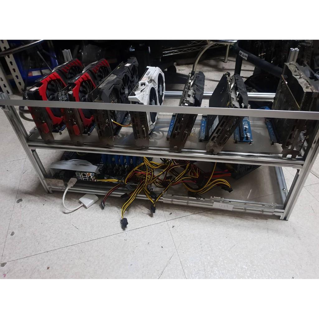 礦機架 8顯示卡機箱 多顯示卡框架 裸測架 機箱 礦架 挖礦 rx470 rx480 rx570 rx580