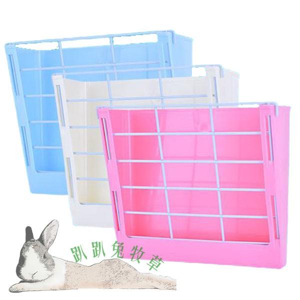 ◆趴趴兔牧草◆懸掛 固定式 草架 藍 粉 白 兔 天竺鼠