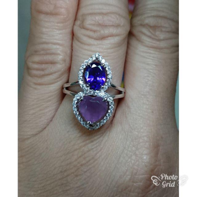 造型紫玉隨戒指
