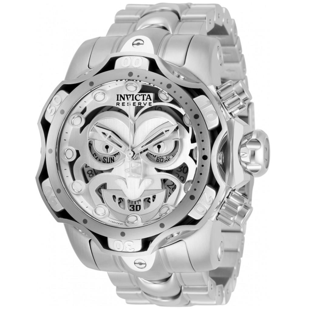 『賴賴』英威塔 invicta  正義聯盟聯名 DC comic Joker 小丑 白鋼 53mm 大錶徑 全球限量