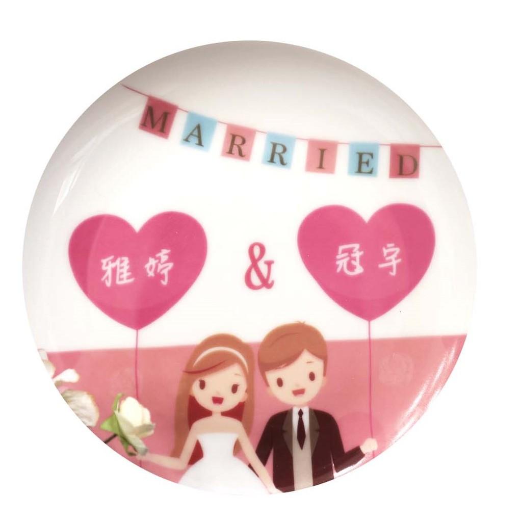 客製化婚禮小物5吋骨瓷盤組&6.5吋骨瓷盤 量多價格優惠 婚禮小物 飾品盤 骨瓷紀念品