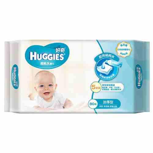 好奇Huggies--超純水濕巾-口手使用安心-((厚型))80抽-(一包)