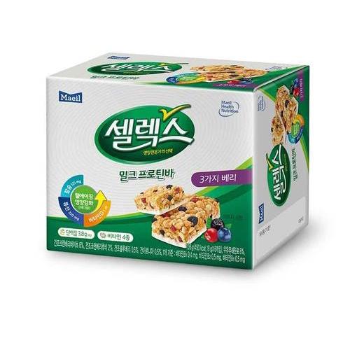 [韓國直送][MAEIL] 牛奶能量棒 (莓果口味) 6入