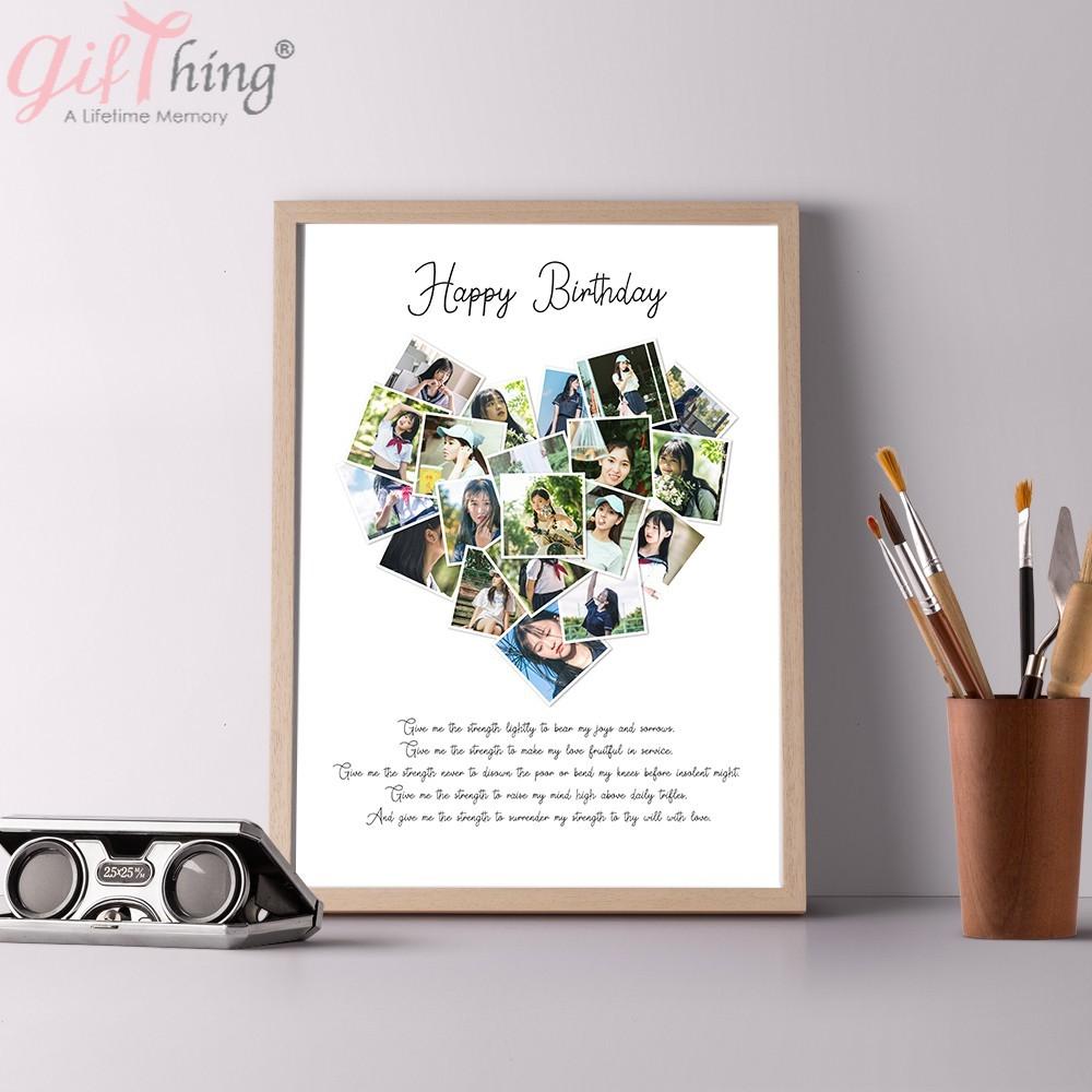 Gifthing 情侶 愛心設計 客製化拼圖 相片客製化 寫真 拼圖 情人節 禮物戀人 交換禮物 送相框 免運
