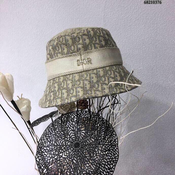 二手 正品 Dior迪奧2020新款動物新款織帶漁夫帽爆款漁夫