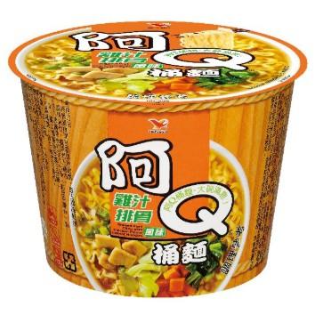 阿Q桶麵_雞汁排骨風味(12碗/箱) 麻煩一個訂單一箱,若想買兩箱,分開下單,感謝,不然超商、黑貓不收貨