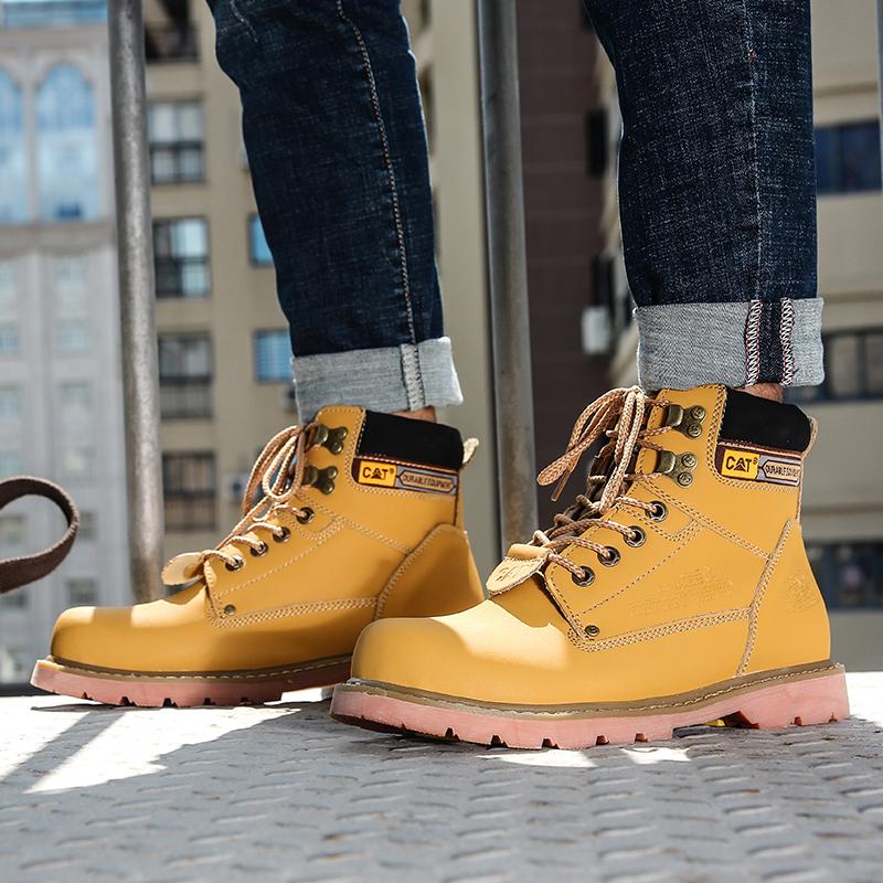 【現貨】CAT 馬丁靴 靴子 防水 防滑 短筒靴 戶外 情侶靴 男鞋 中筒靴 女鞋