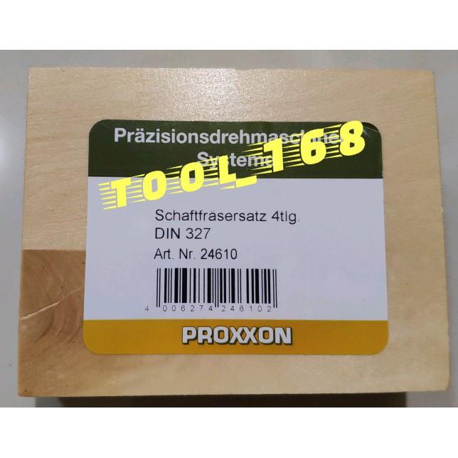 PROXXON Schaftfräsersatz HSS 2-3 - 4-5 mm 4-tlg. DIN 327 No 24610