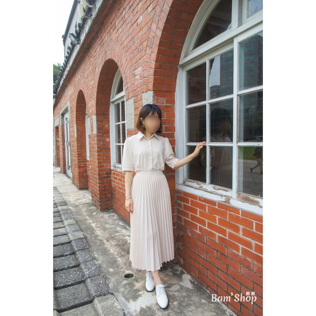 【搬搬日貨✈現貨】韓國 韓國製 小復古 格紋 百褶 連身 洋裝