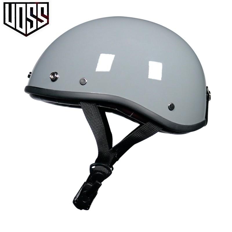 【現貨 免運】VOSS復古頭盔男女哈雷半盔電動摩托車夏季輕便式安全帽瓢盔小盔體 安全帽