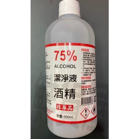 鮮貨屋潔淨液環境清潔酒精75%手部酒精清潔液噴瓶 非藥用 台灣製造 居家淨化