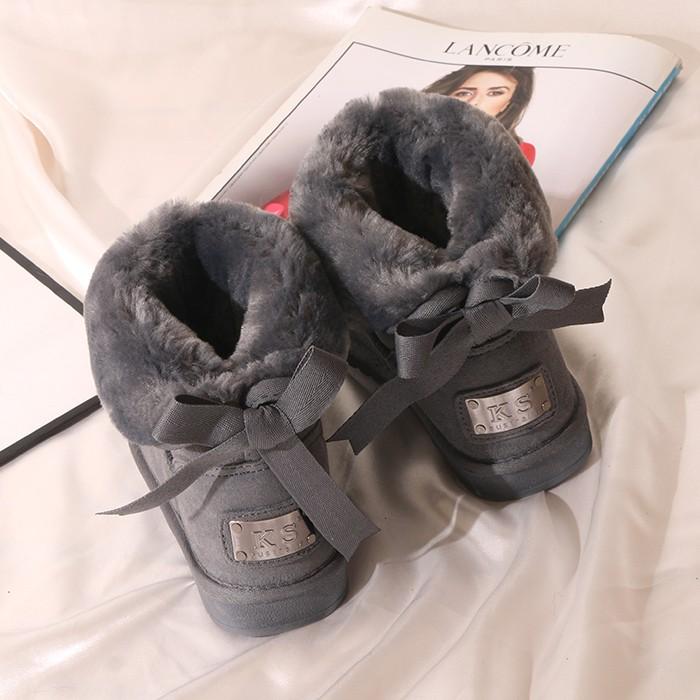 歐洲站雪地靴女短筒韓版百搭學生雪地棉女2019新款冬潮女棉鞋真皮