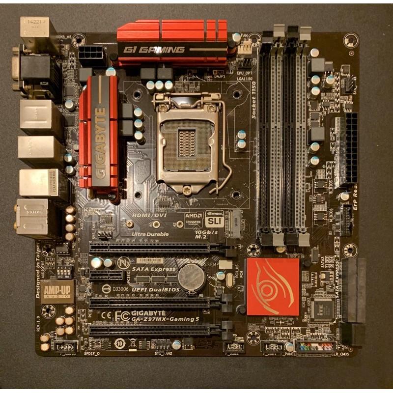 技嘉GA-Z97MX-Gaming 5 主機板 1150腳位 4460 4790等 超頻專用主機版