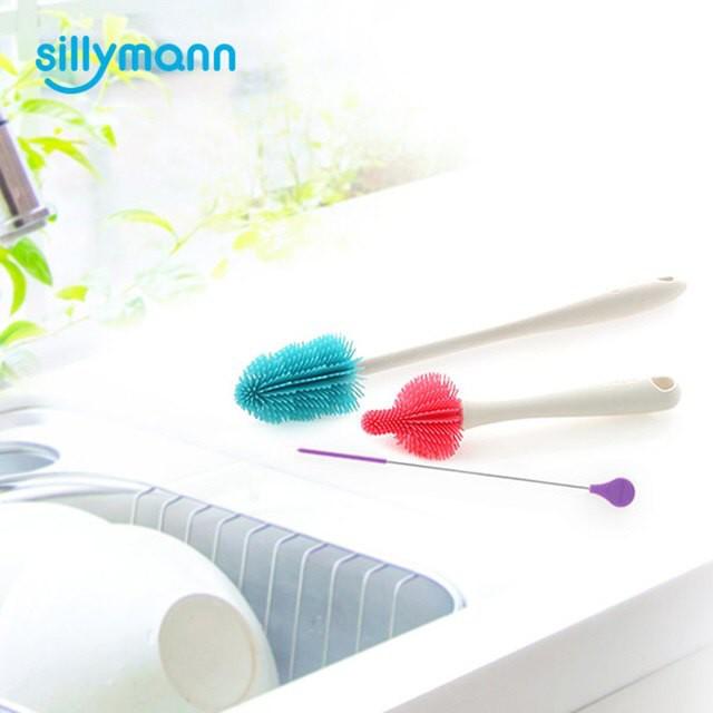 韓國sillymann 100%鉑金矽膠刷類超值組(奶瓶刷+吸管刷+奶嘴刷)