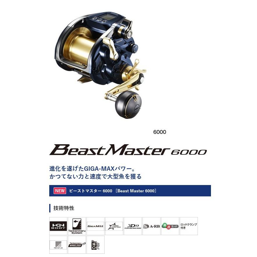 SHIMANO 19年 BEAST MASTER 6000  電動丸 電動捲線器 船釣
