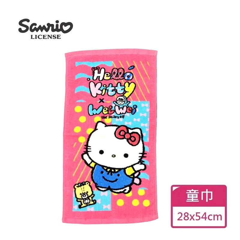 【Sanrio三麗鷗】Hello Kitty x 喂喂 童巾 100%棉 28x54cm