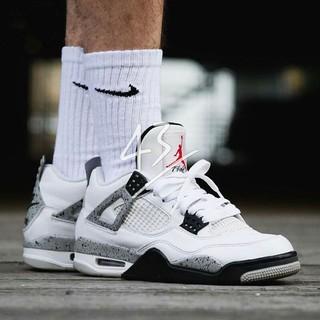 Air Jordan 4 Retro 白水泥 黑白 男鞋 女鞋 籃球鞋 休閒鞋 情侶 喬登840606 192