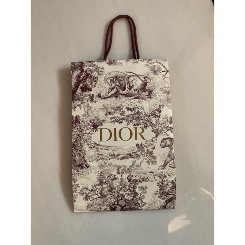 名牌紙袋 Dior 花紋動物叢林紙袋 紙袋改造 DIY禮品袋改造 紙袋包必備紙袋 限量紙袋