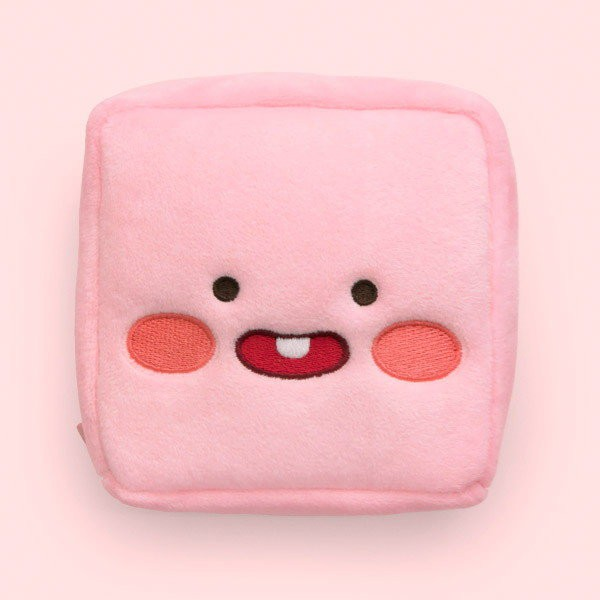 【Kakao Friends】韓國 立體絨布方形收納袋/化妝包-LittleApeach