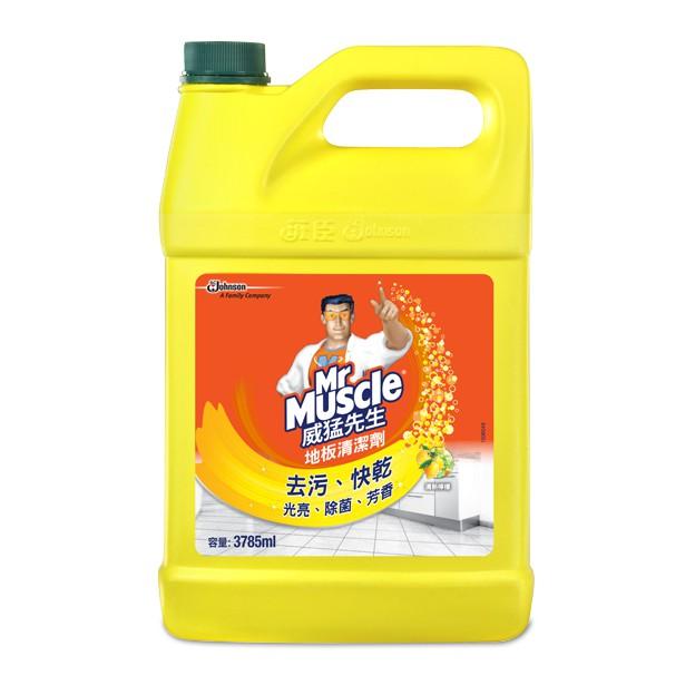 威猛先生 愛地潔地板清潔劑-清新檸檬 1加侖