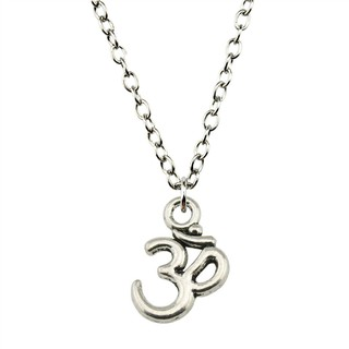 1件15 * 10mm Om標誌吊墜鏈項鍊DIY珠寶禮物