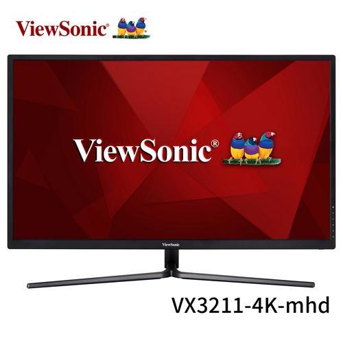 ViewSonic 優派 VX3211-4K-mhd 32型 16:9 4K VA面板 液晶顯示器