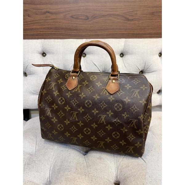 LV 二手真品 經典款 speedy 30 cm 手提包 枕頭包 波士頓包