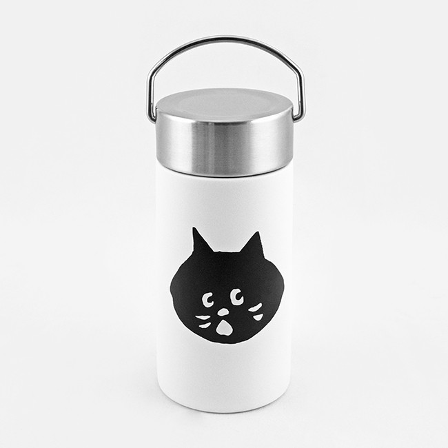 FUSHIMA X NYA-不鏽鋼簡約保溫瓶/ 350ml/ 白色 誠品