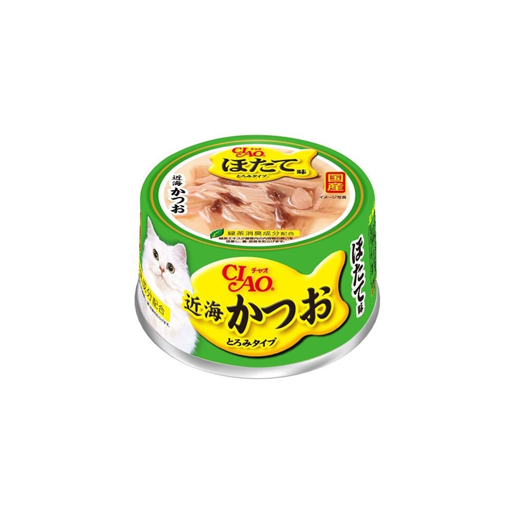 CIAO 近海鰹魚罐-鰹魚+扇貝80g (A-93) -50元 (添加北海道扇貝高湯) 可超取 (C002F93)