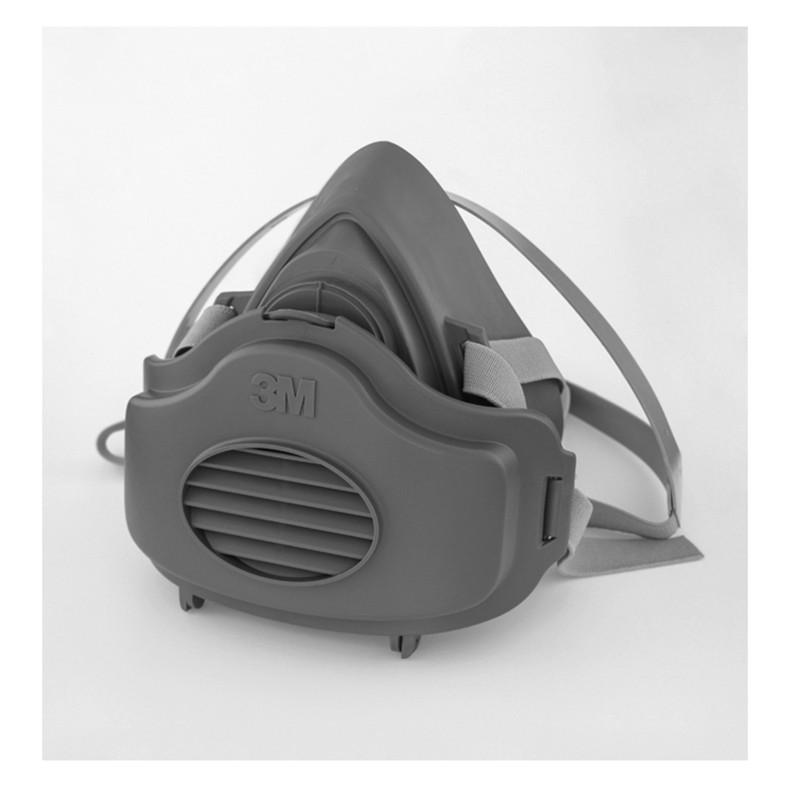 3M 3200防毒面具搭配3700濾棉盒+3744K有機氣體異味活性碳粉塵濾棉片一組《JUN EASY》