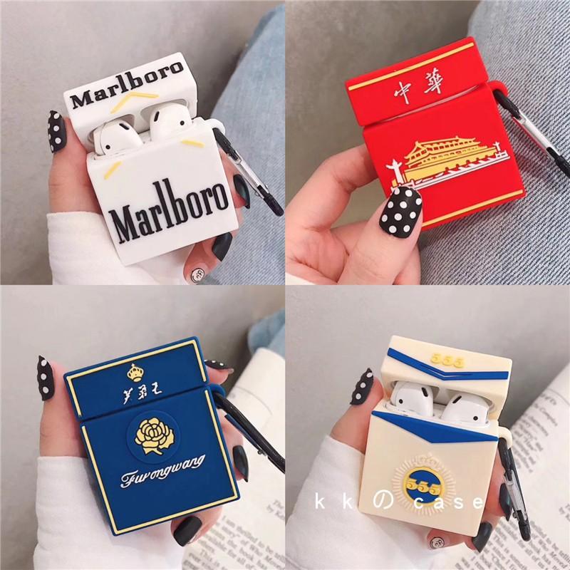 【現貨】Airpods1 2代 香煙盒中華Airpods保護套方形保護套吊牌蘋果耳機保護套適用airpods