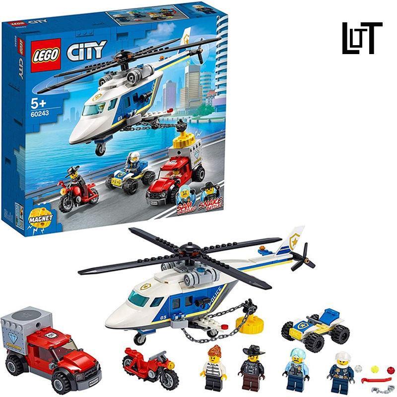 LT 兼容樂高城市系列60243警察直升機大追擊60138高速追捕積木禮物男❤
