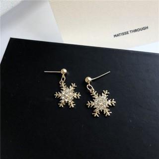 六角雪花金色針式耳環 二手商品 臺北市