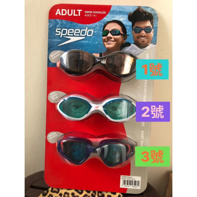 現貨:) Speedo 成人泳鏡 單售 Costco 代購 好市多代購 好市多 拆售 無度數 泳鏡 游泳