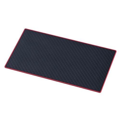 車之嚴選 cars_go 汽車用品【W845】SEIWA 長方形 儀表板用碳纖紋紅邊止滑墊 防滑墊(112X200mm)