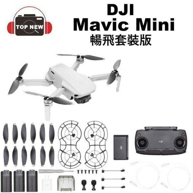 dji Mavic Mini 折疊式迷你空拍機 暢飛套裝公司貨二手一台 全套無缺件 含電池管家 免運費
