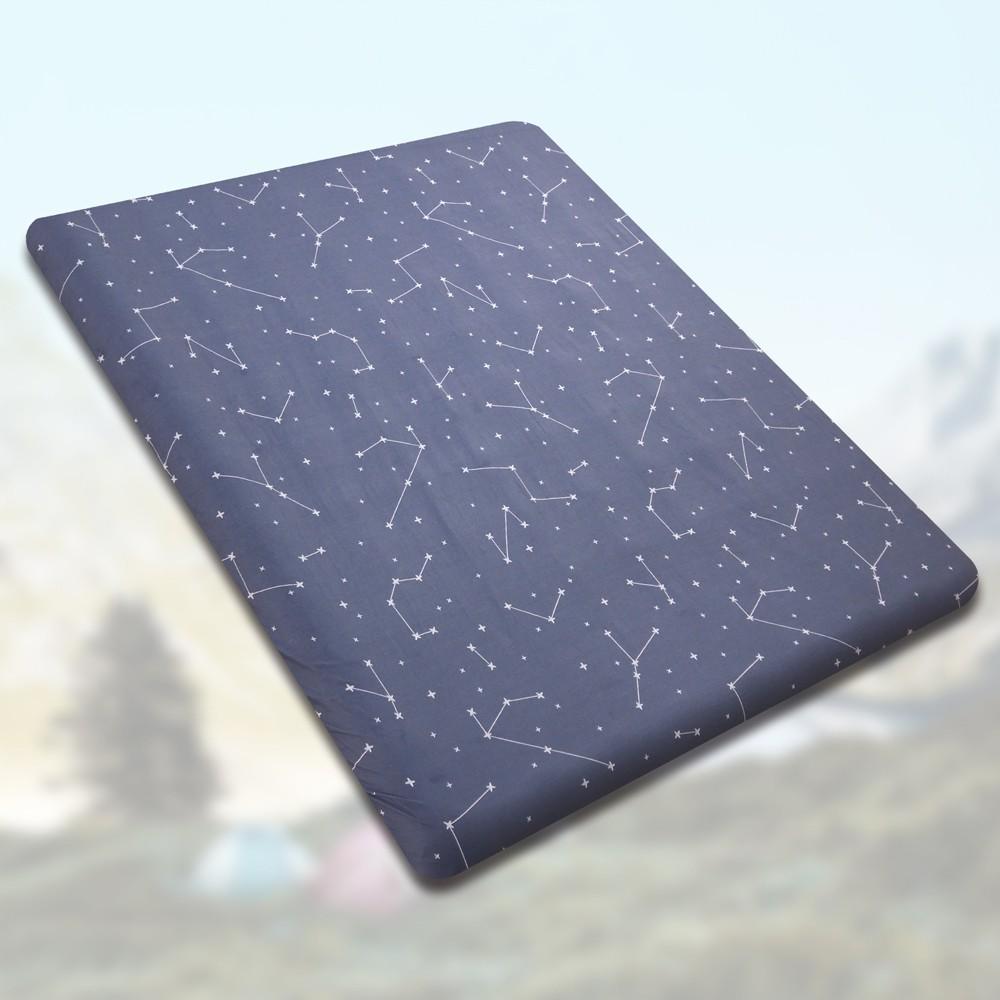 織眠家族 MIT純棉床包套-原廠獨家專利 戶外露營充氣床專用 台灣製-夜空星晴