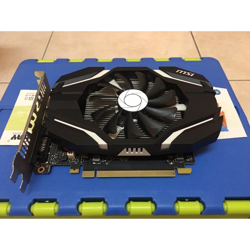 微星 MSI GTX1050 2G OC DDR5 MS-V809 顯示卡