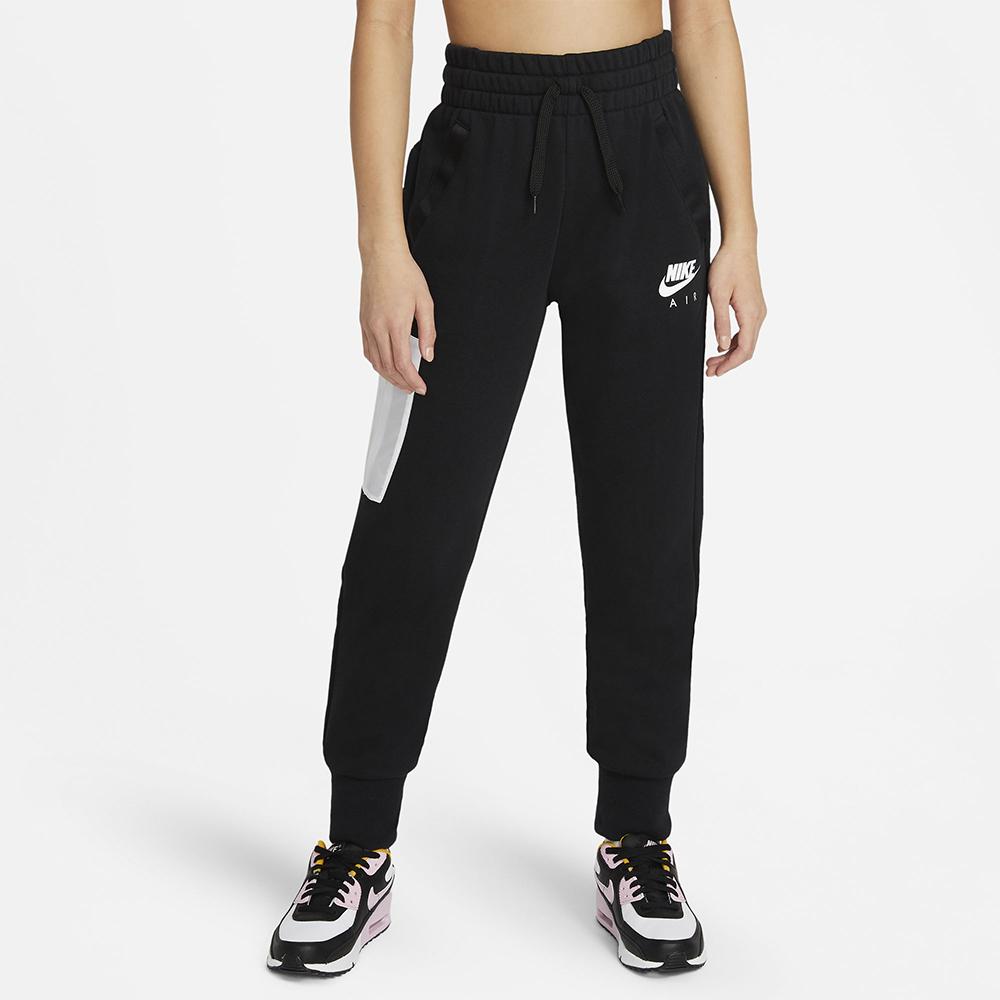 NIKE 耐吉2101女童 大童 運動長褲 健身 休閒 G NSW AIR FT PANT 黑 DA1185010