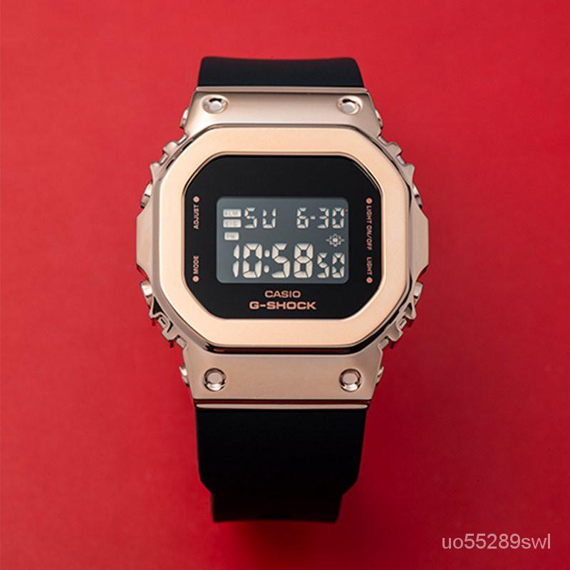 卡西歐金屬小方塊G-SHOCK限定新款手錶男女GM-S5600 PG 7 GM5600 kjdI