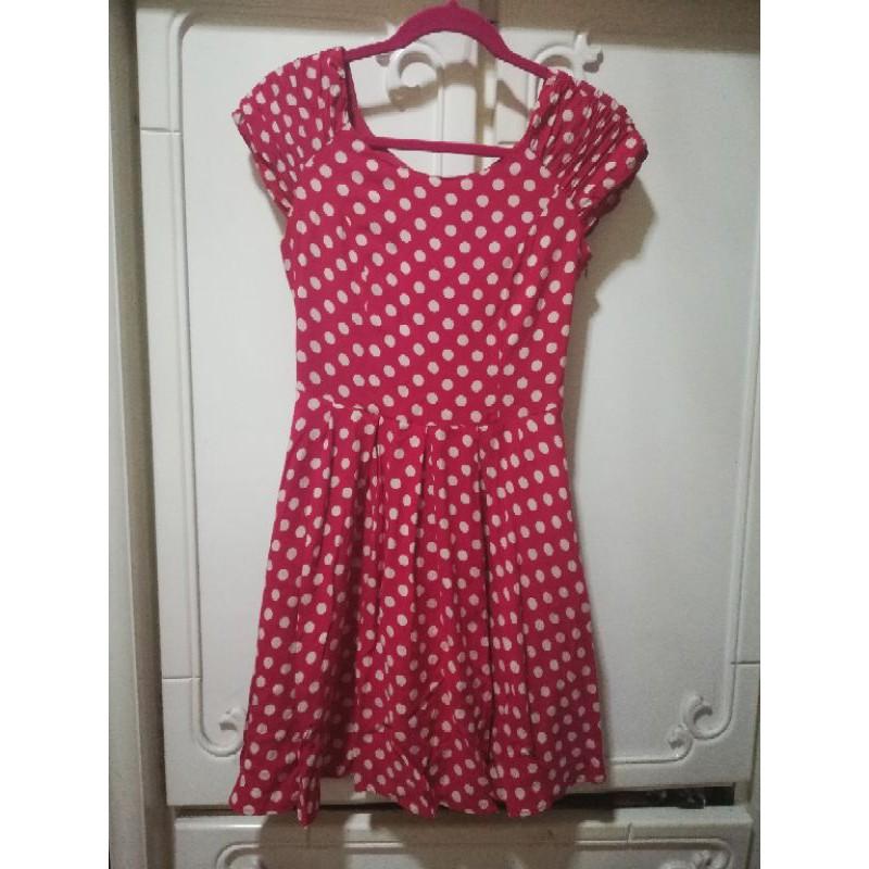 專櫃XING棉質洋裝(紅)S