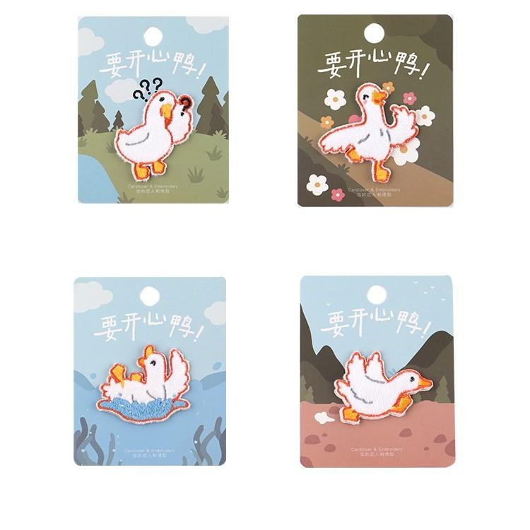 FUFUBAG-布貼-要開心鴨系列補丁/徽章/布章-共4色