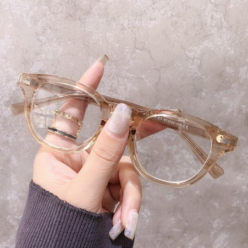 凱視明余文樂同款眼鏡框韓版透明圓框近視眼鏡男防輻射藍光成品眼睛潮
