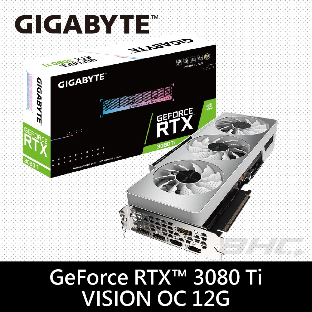 技嘉 GeForce RTX 3080 Ti VISION OC 12G 顯示卡