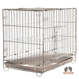 【寵物王國】2尺白鐵折疊籠【前開、上開雙門,附底盤】★ 免運費