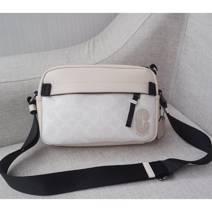 現貨實拍 coach F2338  新款百搭男女通用相機包  斜背包 側背包 肩背包 翻蓋包 精品女生包包