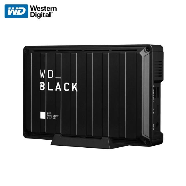 Western Digital 威騰 WD_BLACK D10 Game Drive 桌上型硬碟 時尚黑潮流造型