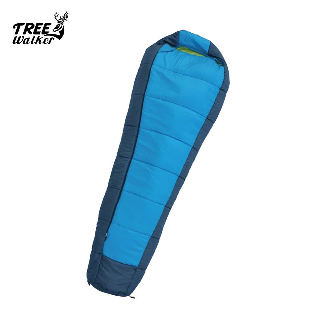 【Treewalker 露遊】高級仿羽絨纖維睡袋 人型睡袋 耐寒睡袋 防潑水 登山露營 保暖睡袋